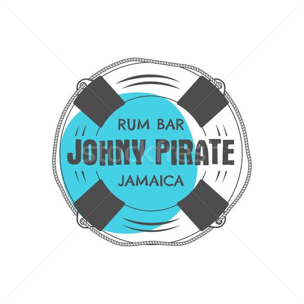 Vintage rum bar etichetta emblema Foto d'archivio © JeksonGraphics