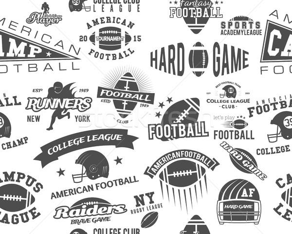 Amerikai futball végtelen minta főiskola rögbi csapat Stock fotó © JeksonGraphics