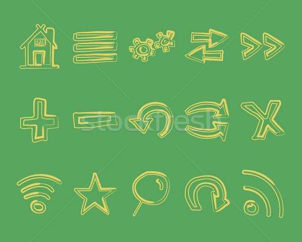 Web icons logo pijlen internet browser Stockfoto © JeksonGraphics