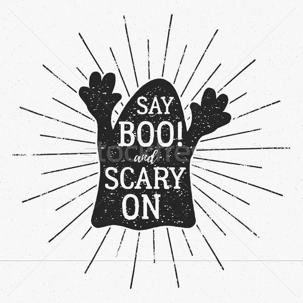 Vektor Halloween Typografie Label Vorlage Text Stock foto © JeksonGraphics