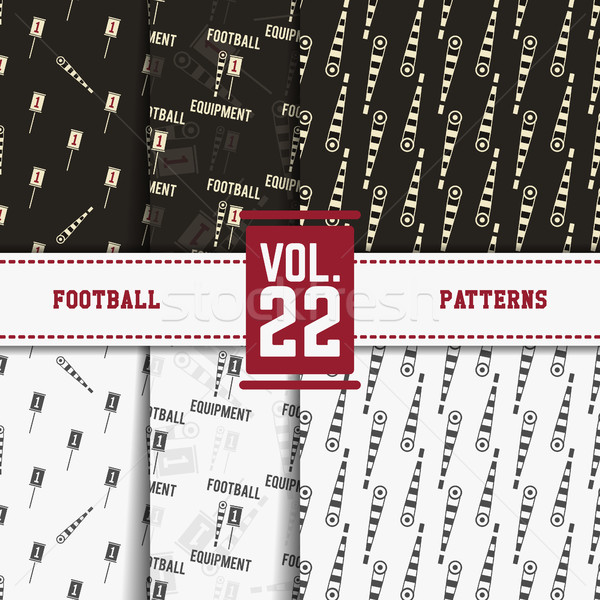 Set of american football patterns. Usa sports seamless background collection. Sport wallpaper with m Stock photo © JeksonGraphics