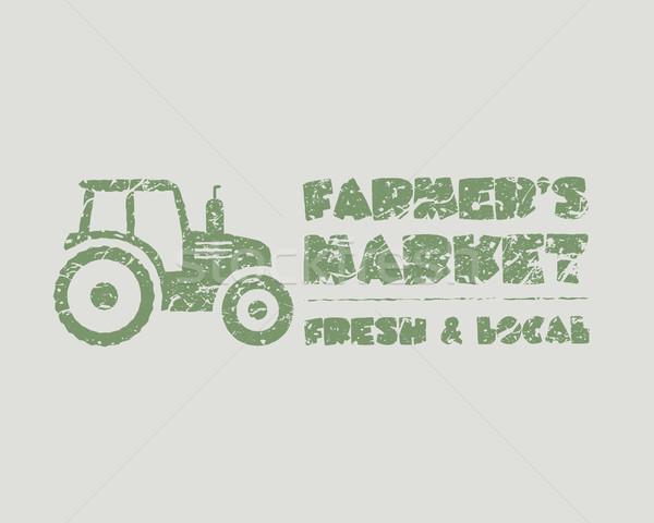 Doğal ürünleri poster çiftlik taze afiş Stok fotoğraf © JeksonGraphics