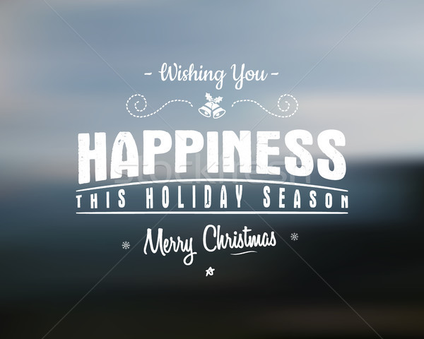 Stock photo: Merry Christmas lettering. Wishes clipart for Holiday season cards, posters, banners, flyers and pho