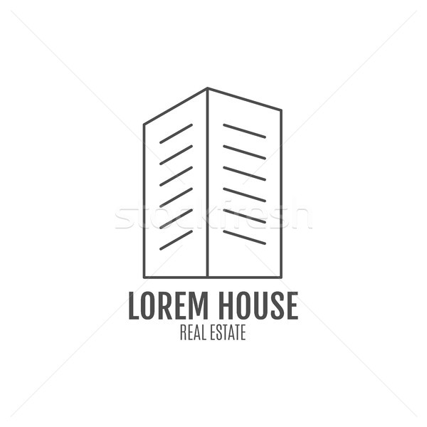 real estate logo design, modern house icon suitable for info graphics, websites and print media. ,  Stock photo © JeksonGraphics