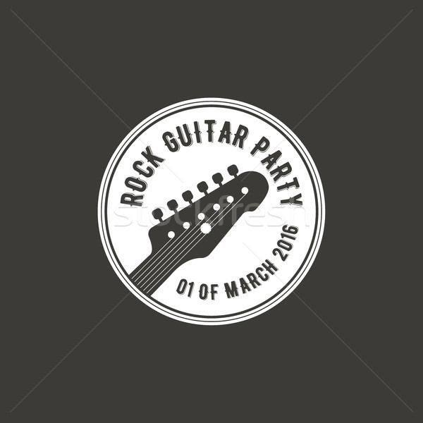Rock guitare fête vecteur étiquette badge Photo stock © JeksonGraphics