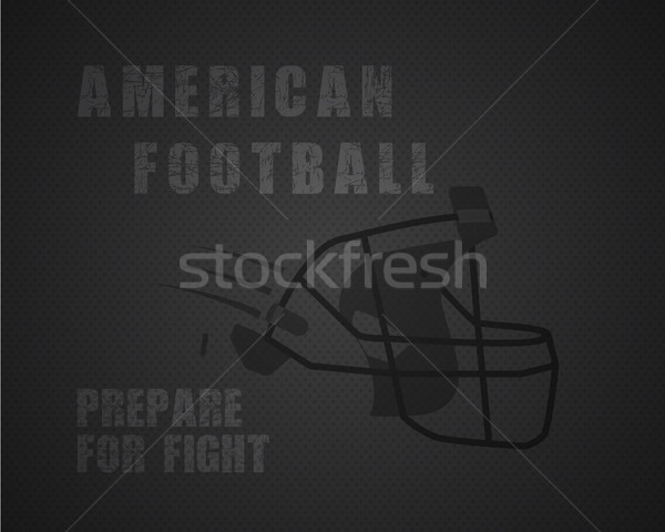 Modern unique american football poster with motivation quote - prepare for fight - on dotted like ba Stock photo © JeksonGraphics