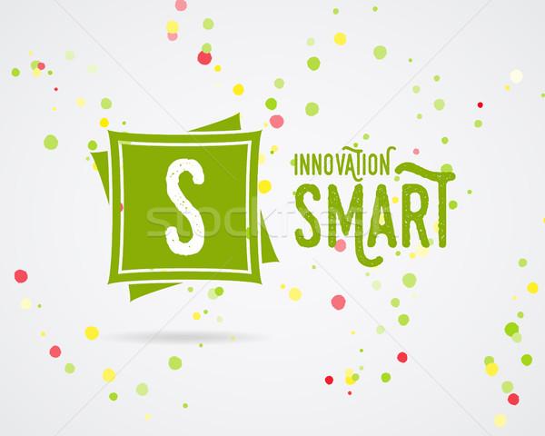 Vektor absztrakt innováció logoterv logo ikon Stock fotó © JeksonGraphics
