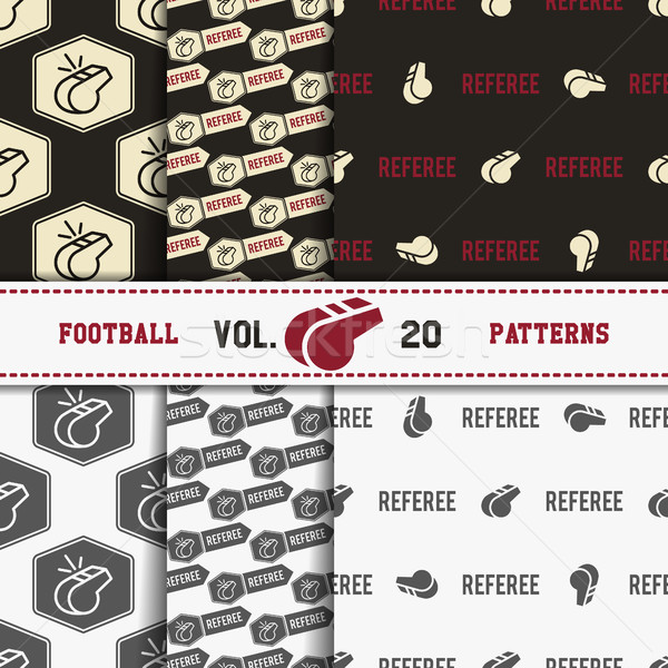 Set of american football patterns. Usa sports seamless background collection. Sport wallpaper with c Stock photo © JeksonGraphics