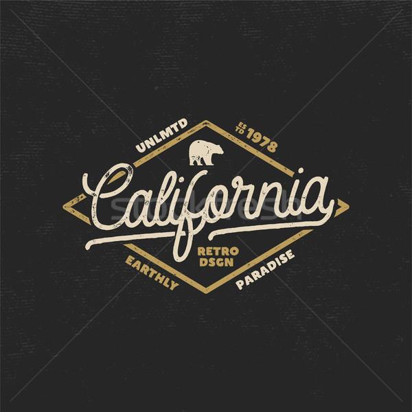 Zomer Californië label beer typografie communie Stockfoto © JeksonGraphics