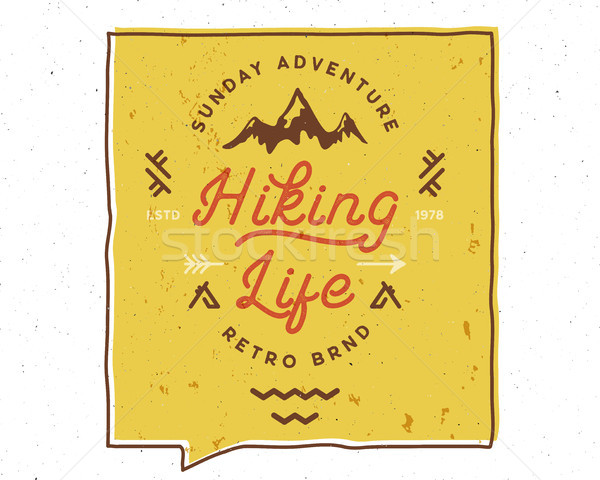 Hiking Life Inspiring Creative Motivation Quote. Vector Typography Banner Design Concept. Vintage ha Stock photo © JeksonGraphics