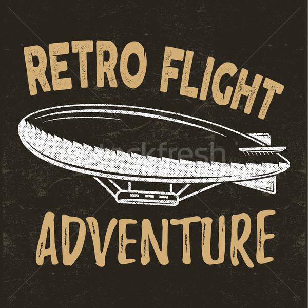 Vintage latać wydruku projektu retro lotu Zdjęcia stock © JeksonGraphics