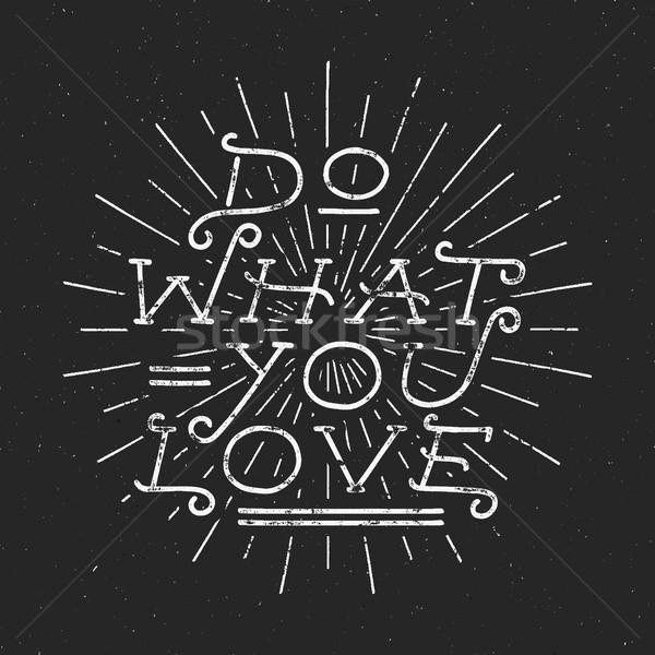 Вдохновенный мелом типографики цитировать плакат мотивация Сток-фото © JeksonGraphics