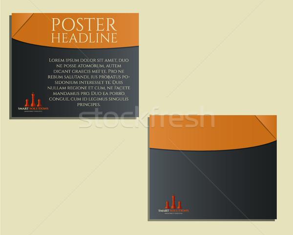 Smart soluzioni poster brochure flyer modello di progettazione Foto d'archivio © JeksonGraphics