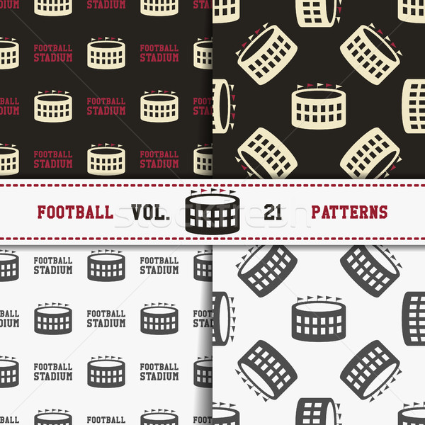 Set of american football patterns. Usa sports seamless background collection. Sport wallpaper with s Stock photo © JeksonGraphics