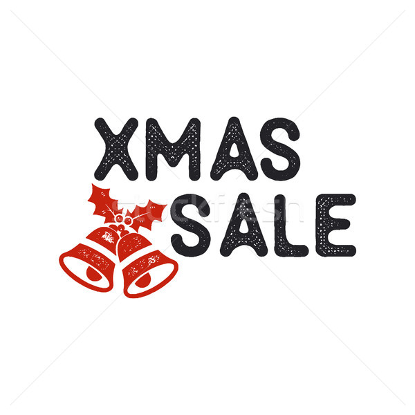 Xmas Christmas sale lettering and typography elements. Holiday Online shopping type quote. Stock vec Stock photo © JeksonGraphics