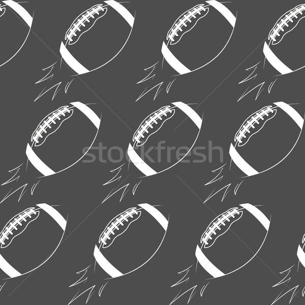 американский футбола мяча ракета ретро Сток-фото © JeksonGraphics