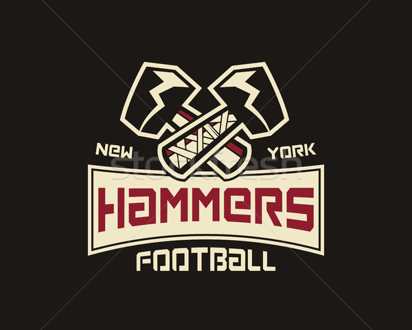 American football label. Hammer logo element innovative and creative inspiration for business compan Stock photo © JeksonGraphics
