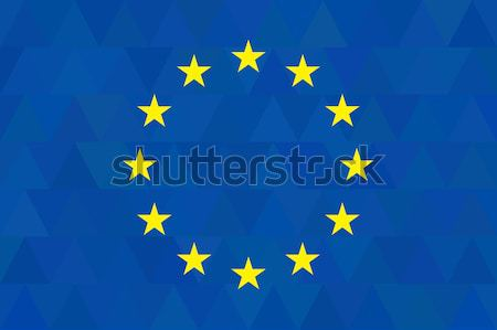 Avrupa sendika bayrak olağandışı mavi kareler Stok fotoğraf © JeksonGraphics
