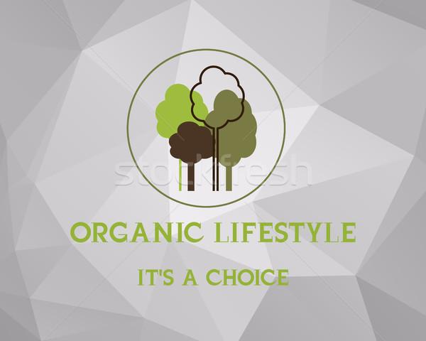 Fresco fazenda orgânico produto cartaz projeto Foto stock © JeksonGraphics