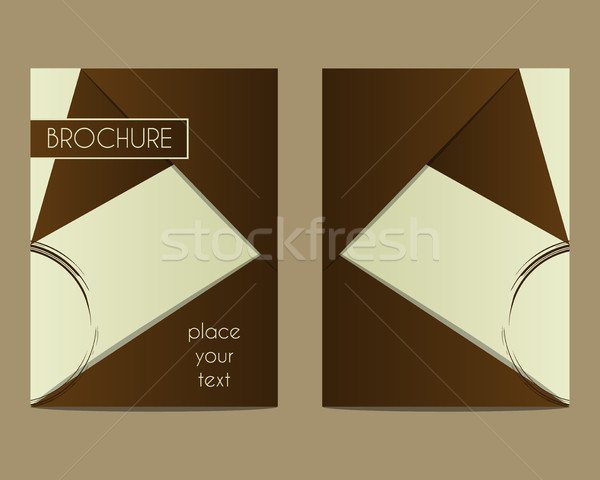 Coffee Stains Brochure Flyer design Layout template. Triangle abstract style. Coffee design. Best fo Stock photo © JeksonGraphics