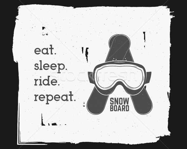 Snowboarding extreme sticker. Motivation quote background template. Winter snowboard sport brochure, Stock photo © JeksonGraphics