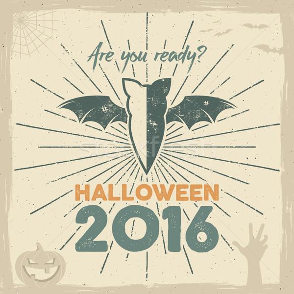 Feliz halloween 2016 anunciante listo vacaciones Foto stock © JeksonGraphics