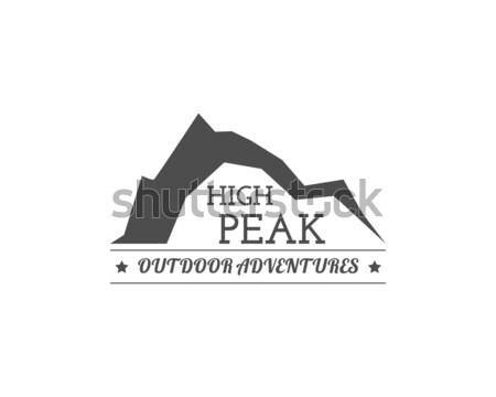 Vintage campamento de verano placa otro aire libre logo Foto stock © JeksonGraphics