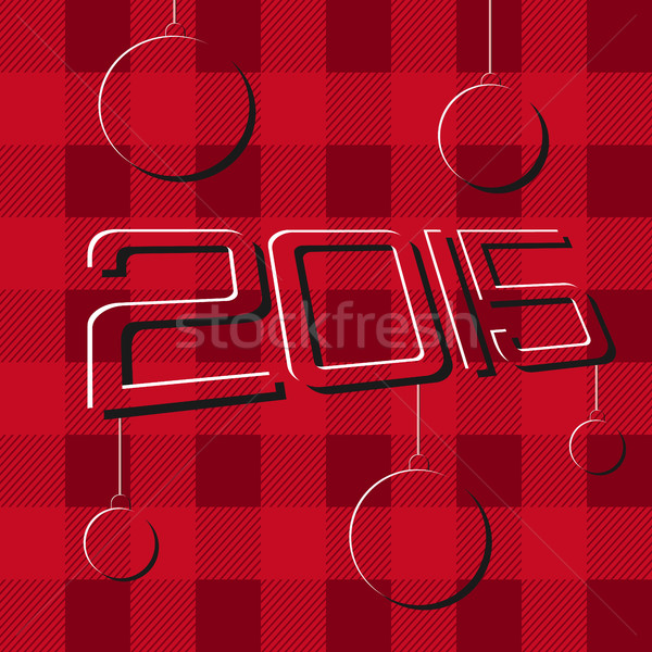 2015 alegre Navidad feliz año nuevo folletos carteles Foto stock © JeksonGraphics