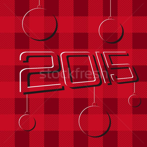 2015 neşeli Noel happy new year posterler Stok fotoğraf © JeksonGraphics