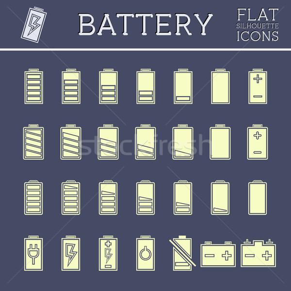 Battery Icons Set Stock photo © JeksonGraphics