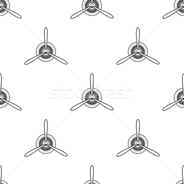 Vintage airplane pattern. Biplane propellers seamless background. Retro Aircraft wallpaper and desig Stock photo © JeksonGraphics
