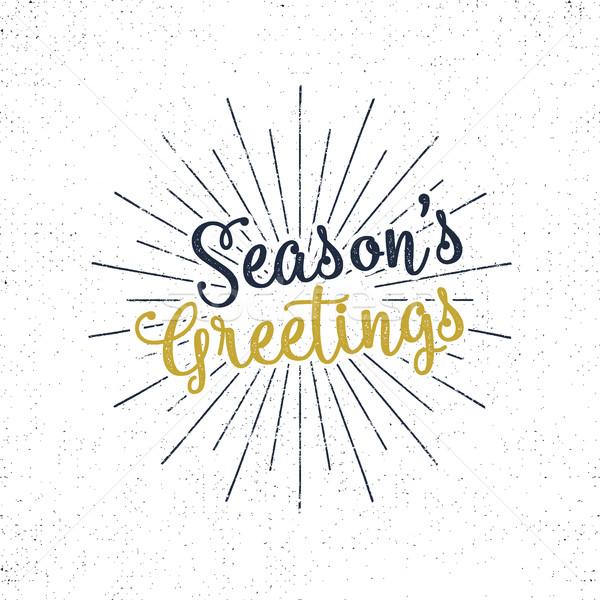 Karácsony üdvözlet ünnep kívánság közmondás klasszikus Stock fotó © JeksonGraphics