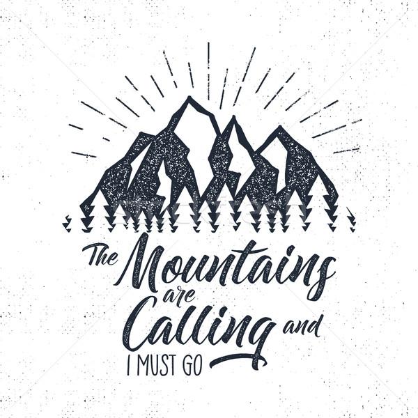 Etykiety góry wzywając ilustracja typografii Zdjęcia stock © JeksonGraphics