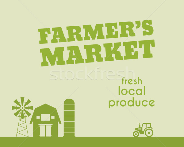 Eco and organic background. Farmer s market poster and banner design. For organic products, shop, we Stock photo © JeksonGraphics