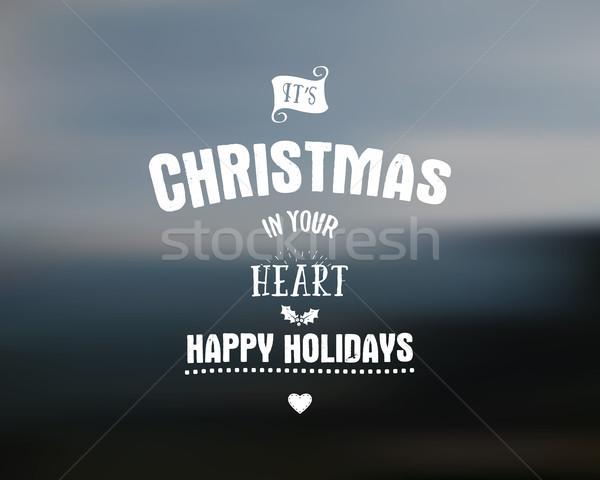 Neşeli Noel clipart kartları Stok fotoğraf © JeksonGraphics