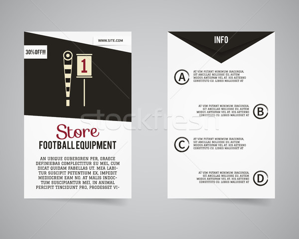 American football equipment store, shop flyer template design. Usa Sport brand identity letterhead.  Stock photo © JeksonGraphics