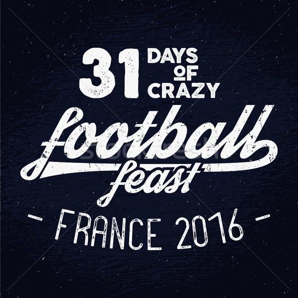 Francia Europa 2016 calcio etichetta calcio Foto d'archivio © JeksonGraphics