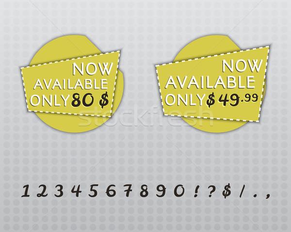 Stockfoto: Verkoop · stickers · ontwerp · winkel · schaduw