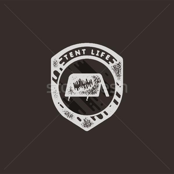 Jahrgang Hand gezeichnet Abenteuer Retro Abzeichen logo Stock foto © JeksonGraphics