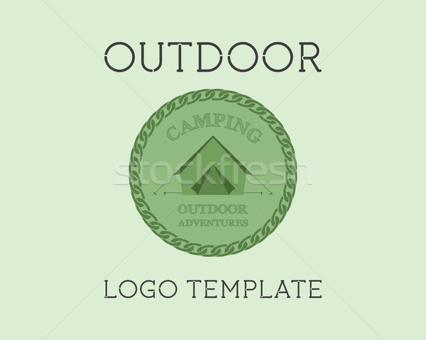 Adventure Outdoor Tourism Travel Logo Template Vintage Labels design. Campground, campsite. Explorat Stock photo © JeksonGraphics