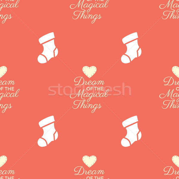 Christmas seamless pattern. Xmas backgrounds textures collection for holidays season. Use for packag Stock photo © JeksonGraphics
