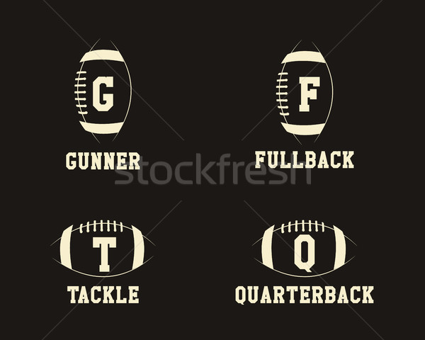 Football badge joueurs positions sport Photo stock © JeksonGraphics
