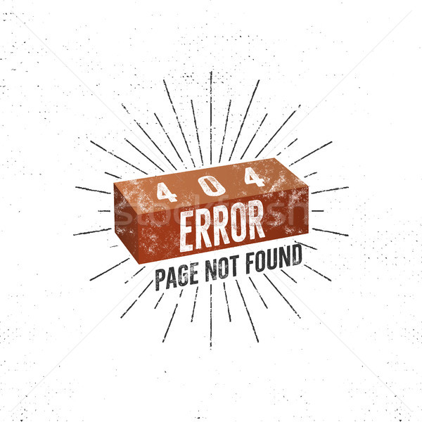 404 error page with brick. concept of 404 error page. Illustration for page 404 errors. Page not fou Stock photo © JeksonGraphics