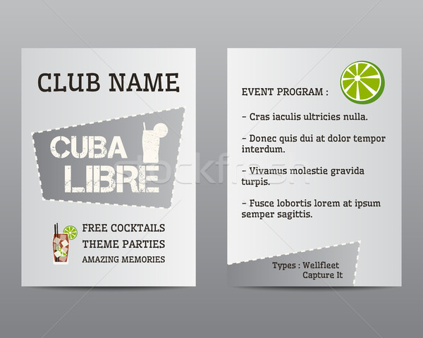 été cocktail flyer invitation modèle Cuba Photo stock © JeksonGraphics