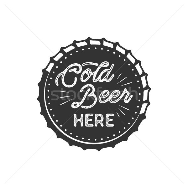 Vintage стиль пива Знак чернила штампа Сток-фото © JeksonGraphics