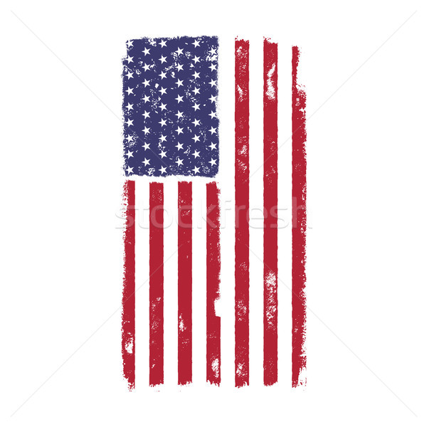 USA American National Flag in disstressed style. Vintage design. Perfect for T-Shirt, poster, cards. Stock photo © JeksonGraphics