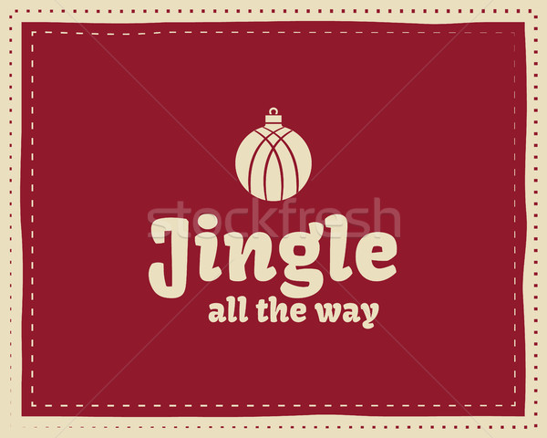 Christmas unique funny sign, quote background design for kids - jingle bells. Nice bright palette. R Stock photo © JeksonGraphics