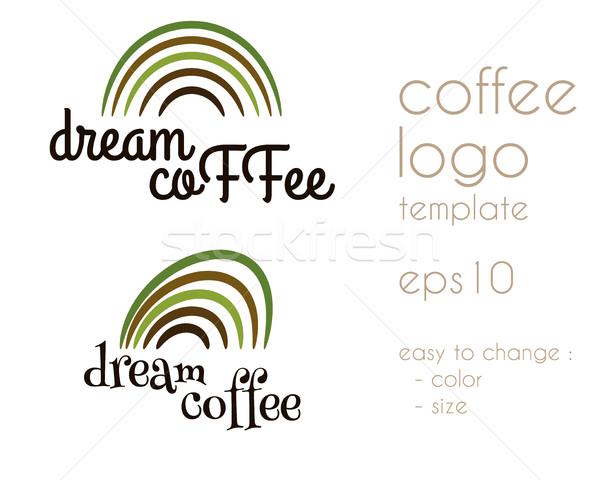 мечта кофе Vintage Этикетки логотип шаблон Сток-фото © JeksonGraphics