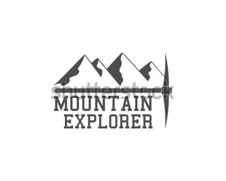 Vintage mountain badge, outdoors logo, emblem and label. Steep Rock concept, monochrome design. Best Stock photo © JeksonGraphics
