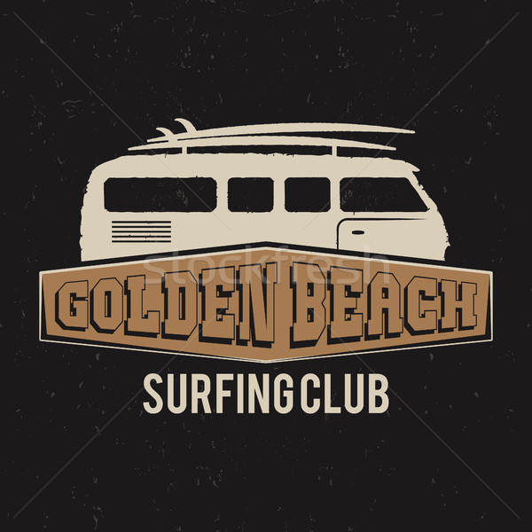 Vintage Surfing club tee design. Retro t-shirt Graphics and Emblem for web design or print. Surf boa Stock photo © JeksonGraphics